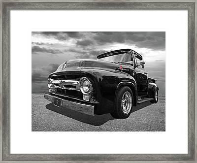 Black Beauty - 1956 Ford F100 Framed Print