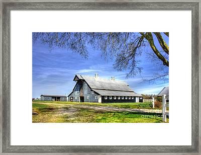 White Windows Historic Hopkinsville Kentucky Barn Art Framed Print by Reid Callaway