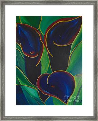 Framed Print featuring the painting Black Beauty by Saundra Johnson