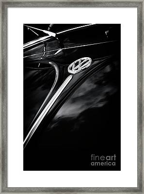 Black Beetle Abstract Framed Print