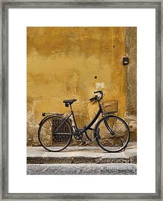 Black Bike In Florence Framed Print by Patricia Strand