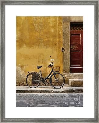 Black Bike Framed Print by Patricia Strand
