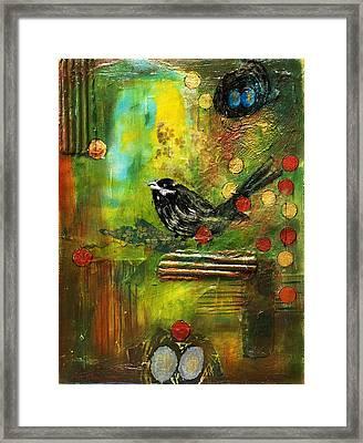 Black Bird Come Home Framed Print by Ishita Bandyo