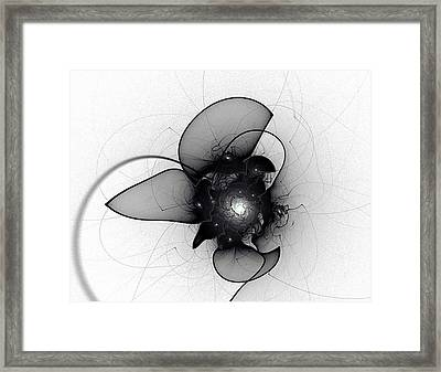 Black Bloom Framed Print
