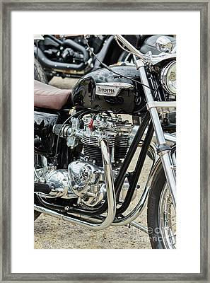 Framed Print featuring the photograph Black Bonneville by Tim Gainey
