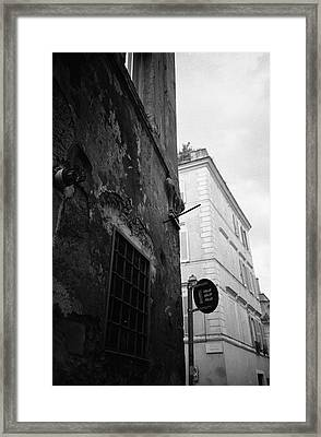 Black Building, White Building Framed Print