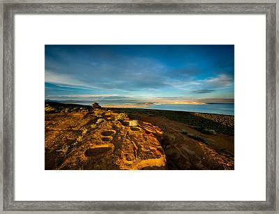 Black Butte Sunset Framed Print by Dan Holmes