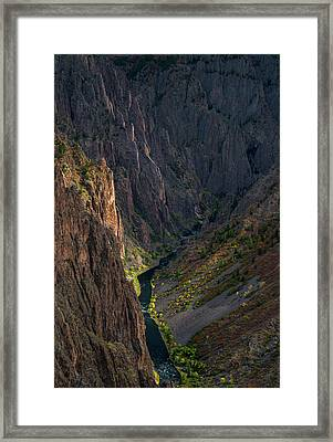 Black Canyon Framed Print by Joseph Smith