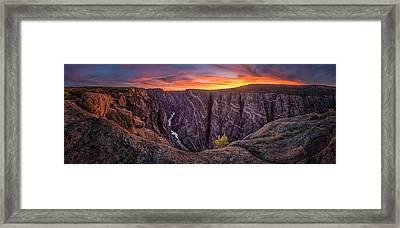 Black Canyon Of The Gunnison Framed Print