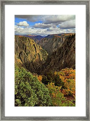 Framed Print featuring the photograph Black Canyon Of The Gunnison - Colorful Colorado - Landscape by Jason Politte