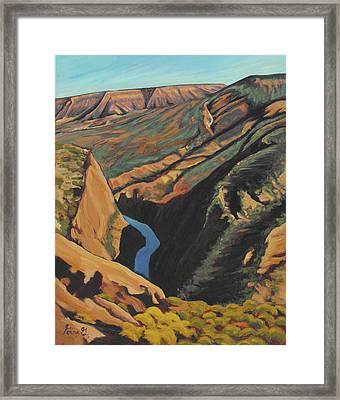 Black Canyon Overlook Framed Print