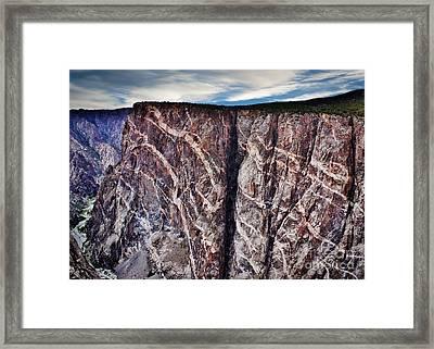 Black Canyon Serpent Wall Framed Print by Janice Rae Pariza