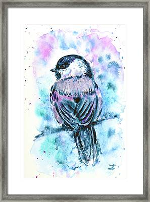 Black-capped Chickadee Framed Print by Zaira Dzhaubaeva