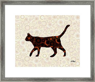 Black Cat - Animal Art Framed Print