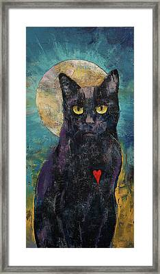 Black Cat Lover Framed Print by Michael Creese