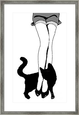 Black Cat Framed Print by Mindy Sommers