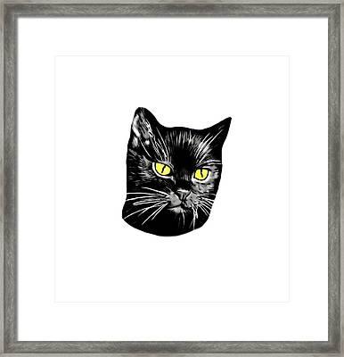 Black Cat Molly Framed Print