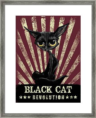 Black Cat Revolution Framed Print
