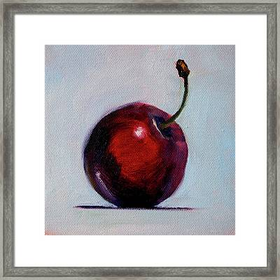 Framed Print featuring the painting black Cherry by Nancy Merkle