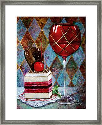 Black Cherry Tiramisu Framed Print by Geraldine Arata