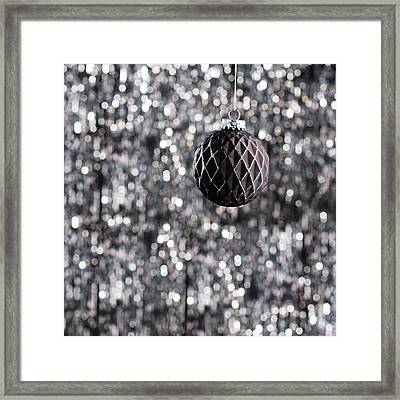 Framed Print featuring the photograph Black Christmas by Ulrich Schade
