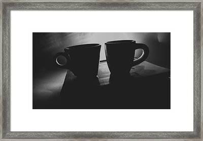 Black Coffee Conversation Framed Print