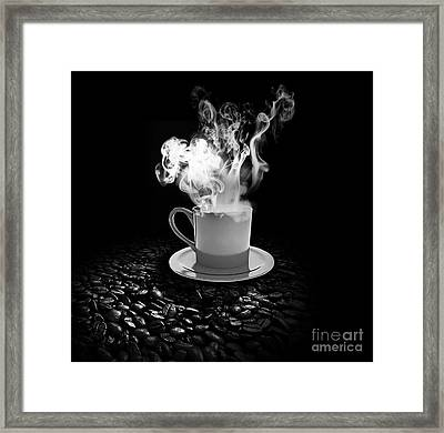 Black Coffee Framed Print by Stefano Senise