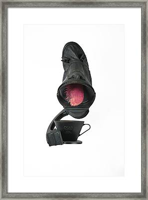 Black Coughee Framed Print by Michael Jude Russo