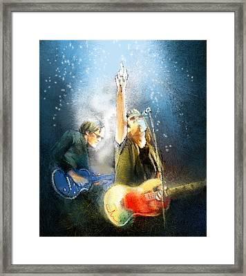 Black Country Communion 02 Framed Print by Miki De Goodaboom