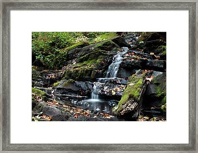 Black Creek Falls In Autumn, 2016 Framed Print by Jeff Severson