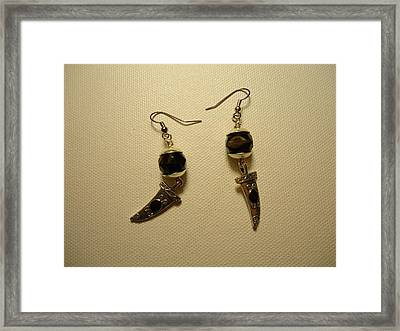 Black Dagger Earrings Framed Print