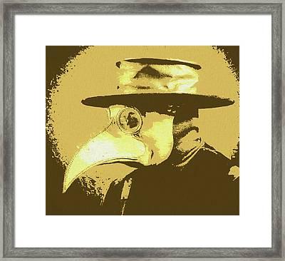 Black Death Mask Framed Print by Dan Sproul