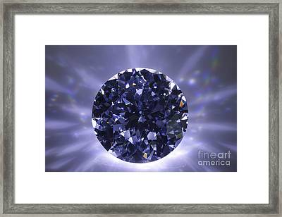 Black Diamond Shine Aura. Framed Print by Atiketta Sangasaeng