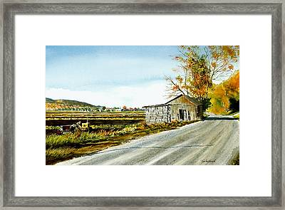 Black Dirt Morning Framed Print