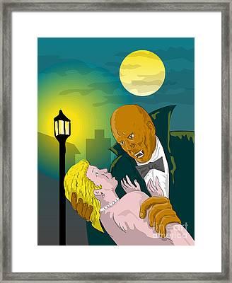 Black Dracula Framed Print by Aloysius Patrimonio