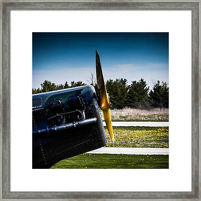 Black Engine Framed Print by Ralf Weyler