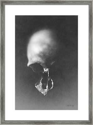 Black Erosion Framed Print