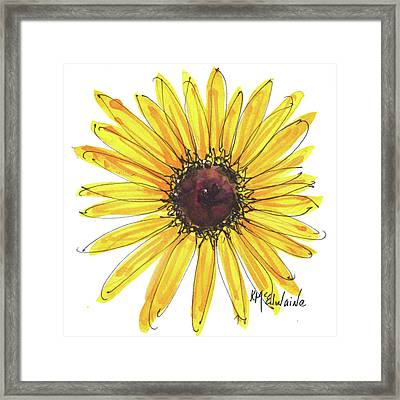 Black Eyed Susan Watercolor Painting By Kmcelwaine Framed Print