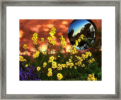 Black-eyed Susans And Adobe Framed Print