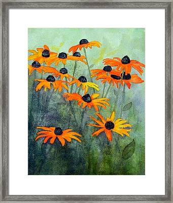 Black Eyed Susans Framed Print by Moon Stumpp