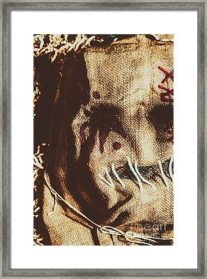 Black Eyes And Dried Out Hearts Framed Print