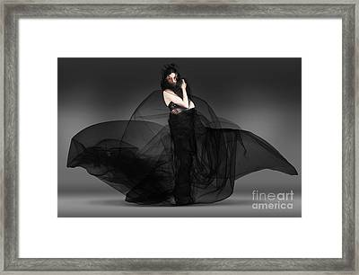 Black Fashion The Dark Movement In Motion Framed Print by Jorgo Photography - Wall Art Gallery