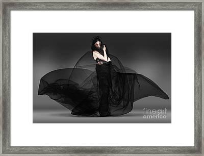 Black Fashion The Dark Movement In Motion Framed Print