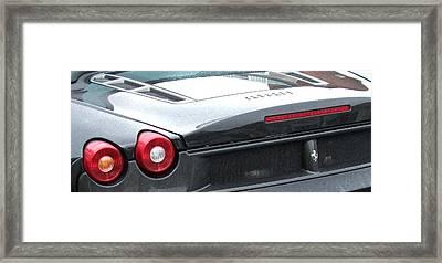 Black Ferrari Framed Print by Deborah Brewer
