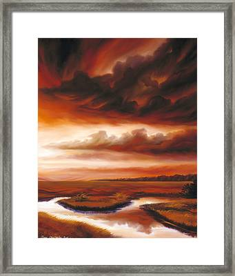 Black Fire Framed Print by James Christopher Hill