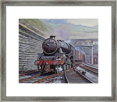 Black Five On Goods. Framed Print