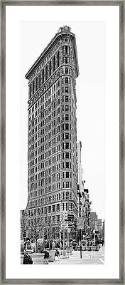 Black Flatiron Building II Framed Print by Chuck Kuhn