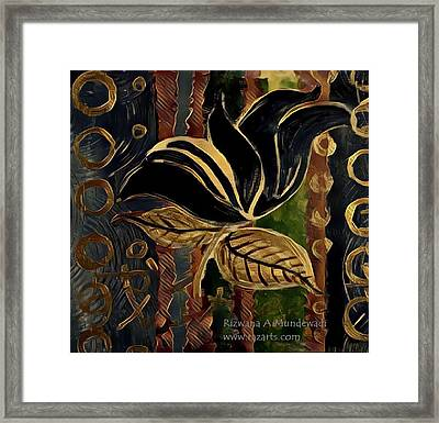 Black Flower Of Success Framed Print