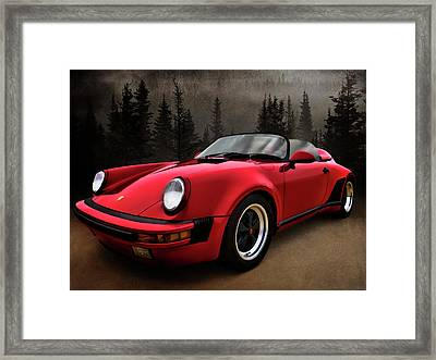Black Forest - Red Speedster Framed Print by Douglas Pittman