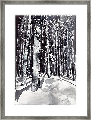 Black Forest Watercolor Framed Print